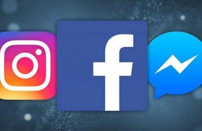 فيسبوك وماسنجر وإنستاجرام